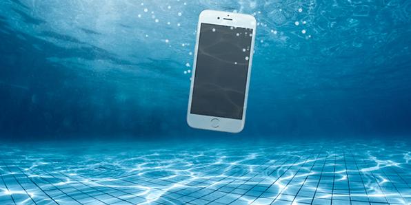 iphone 6 har fået vand